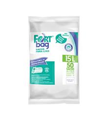 Sacos de Lixo Branco FortBag 15L