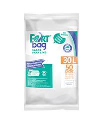 Sacos de Lixo Branco FortBag 30L