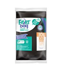 Sacos de Lixo Preto FortBag 30L